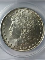 1898 MORGAN SILVER DOLLAR  ANACS MINT STATE 62  BEAUTIFUL COIN