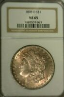 1898 O  SILVER MORGAN DOLLAR  NGC MINT STATE 65  GREAT LOOKING COIN  067