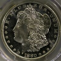 1880 S MORGAN SILVER DOLLAR PCGS MS 66  PROOF LIKE DEEP MIRRORS GORGEOUS COIN