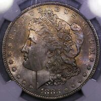 1883 O MORGAN SILVER DOLLAR NGC MS 65 ATTRACTIVE TONE NICELY STRUCK