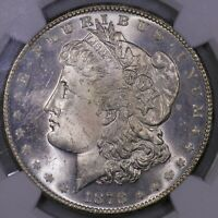 1878 S MORGAN SILVER DOLLAR NGC MS 63 OBVERSE PL QUALITIES