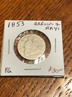 SEATED LIBERTY 1853 SILVER QUARTER DOLLAR HARD TO FIND LOW S