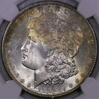 1886 P MORGAN SILVER DOLLAR NGC MS 65 NICE TONING