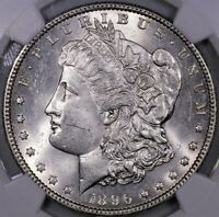 1896 P MORGAN SILVER DOLLAR NGC MS 63 STRONG STRIKE