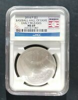 2014 P NGC MS 69 EARLY RELEASE  BASEBALL HOF CURVED SILVER DOLLAR