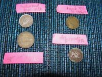 FRENCH 1933 50 CENTIMES BERMUDA .10 1970 SWITZ 1/2 FR 1950 S
