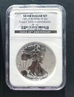 2006 P REVERSE PROOF AMERICAN SILVER EAGLE FROM 20TH ANNIVERSARY DOLLAR SET