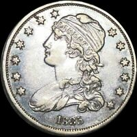 1835 CAPPED BUST SILVER QUARTER.   LOW SHIPPING