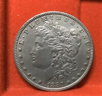 1880-0 MORGAN SILVER DOLLAR  EF/AU