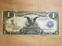 FR. 228 $1 1899 SILVER CERTIFICATE BLACK EAGLE VERNON TREAT LARGE SIZE NOTE BILL