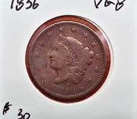 1836 CORONET HEAD LARGE CENT PENNY SHARP DETAILS
