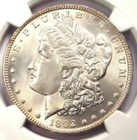 1892 MORGAN SILVER DOLLAR $1 1892-P - CERTIFIED NGC UNCIRCULATED DETAIL UNC MS