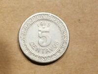 1913 MEXICO 5 CENTAVOS COIN 1/20 MEXICAN PESO FIVE CENT NICE COIN