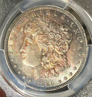 1888 O VAM 1B MINT STATE 63 MORGAN SILVER DOLLAR $1 TONED PRE-SCARFACE EDS