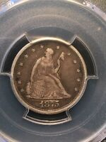 1875 S  TWENTY CENT PIECE PCGS VF35. BEAUTIFUL DETAILS