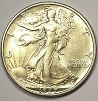 1927-S WALKING LIBERTY HALF DOLLAR 50C COIN - EXCELLENT CONDITION -  DATE