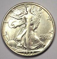 1928-S WALKING LIBERTY HALF DOLLAR 50C COIN - SHARP EXTRA FINE  DETAILS -  DATE