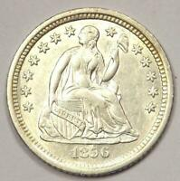 1856-O SEATED LIBERTY HALF DIME H10C COIN - EXCELLENT CONDITION -  DATE