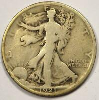1921 WALKING LIBERTY HALF DOLLAR 50C - STRONG DETAILS -  DATE COIN