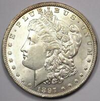 1897-O MORGAN SILVER DOLLAR $1 - EXCELLENT CONDITION -  LUSTER -  DATE