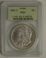 1883-O PCGS MINT STATE 64 S$1 MORGAN SILVER DOLLAR OGH, OLD GREEN HOLDER