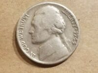 1944 HENNING NICKEL NO P NON SILVER WAR 5 CENTS NO MINT MARK COIN LOOPED R NICE