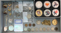 JUNK LOT   U.S. COINS PROOF COINS 90  SILVER JEWELRY STERLIN