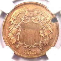1868 PROOF TWO CENT COIN 2C   NGC PROOF DETAIL  PR / PF     PROOF COIN