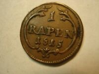 ERROR SWITZERLAND  1  RAPPEN  ONE P IN RAPPEN    1815