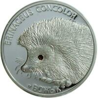 BELARUS 2011 20 RUBLES HEDGEHOG 1 OZ SILVER PROOF COIN WITH