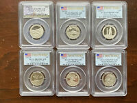 GREAT LOT OF 6 PCGS GRADED PR69DCAM NATIONAL PARK QUARTERS 2