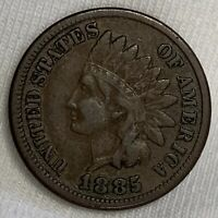 1885 INDIAN HEAD CENT PENNY BETTER DATE LOW MINTAGE K175