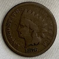 1876 INDIAN HEAD CENT PENNY  BETTER DATE K176