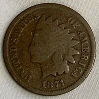 1871 INDIAN HEAD CENT PENNY  BETTER DATE K179