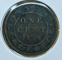 1858 CANADIAN LARGE CENT ERROR MISSING 5 VARIETY   FILLED DI