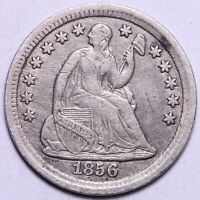 EXTRA FINE  1856 SEATED LIBERTY HALF DIME       R3GNE2