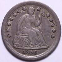 , PROBLEM FREE 1856 SEATED LIBERTY HALF DIME             R9XCB