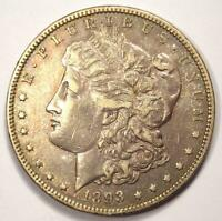 1893-O MORGAN SILVER DOLLAR $1 - CHOICE EXTRA FINE  DETAILS -  KEY DATE COIN