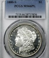 1880-S MINT STATE 66 PL MORGAN SILVER DOLLAR $1, PCGS GRADED PROOFLIKE