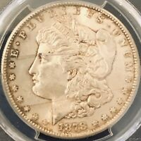 BEAUTIFUL 1878 S MORGAN SILVER DOLLAR - PCGS MINT STATE 64- LIGHT TONE - HOLDER CRACKED