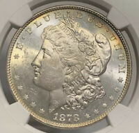 1878 8TF VAM-6 MINT STATE 63 MORGAN SILVER DOLLAR NGC GRADED MS CERTIFIED  LUSTER