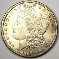 1889-S MORGAN SILVER DOLLAR $1 -  DATE - EXCELLENT CONDITION -  LUSTER