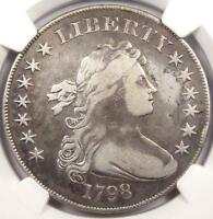 1798 DRAPED BUST SILVER DOLLAR $1 - NGC VF DETAILS -  CERTIFIED COIN