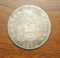1820 CAPPED BUST QUARTER.  LOW SHIPPING
