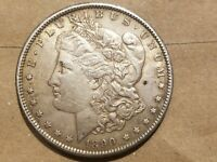 1890 S MORGAN SILVER DOLLAR LIBERTY HEAD $1 COIN AMERICAN EAGLE ABOUT UNC AU