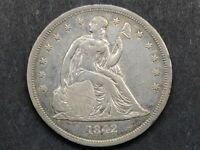 1842 SEATED LIBERTY DOLLAR AU DETAILS