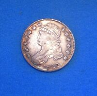 1822/1 CAPPED BUST HALF DOLLAR EXTRA FINE /AU CONDITION 50C SILVER COIN OVERDATE
