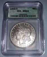 1900 O MORGAN DOLLAR ICG MINT STATE 64