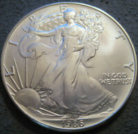 AS SHOWN - 1986 1 OZ AMERICAN SILVER EAGLE UNCIRCULATED // MC 510