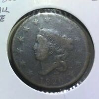 US LARGE CENT 1C 1820 SMALL DATE GOOD